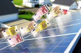 zonnepanelen en euro's
